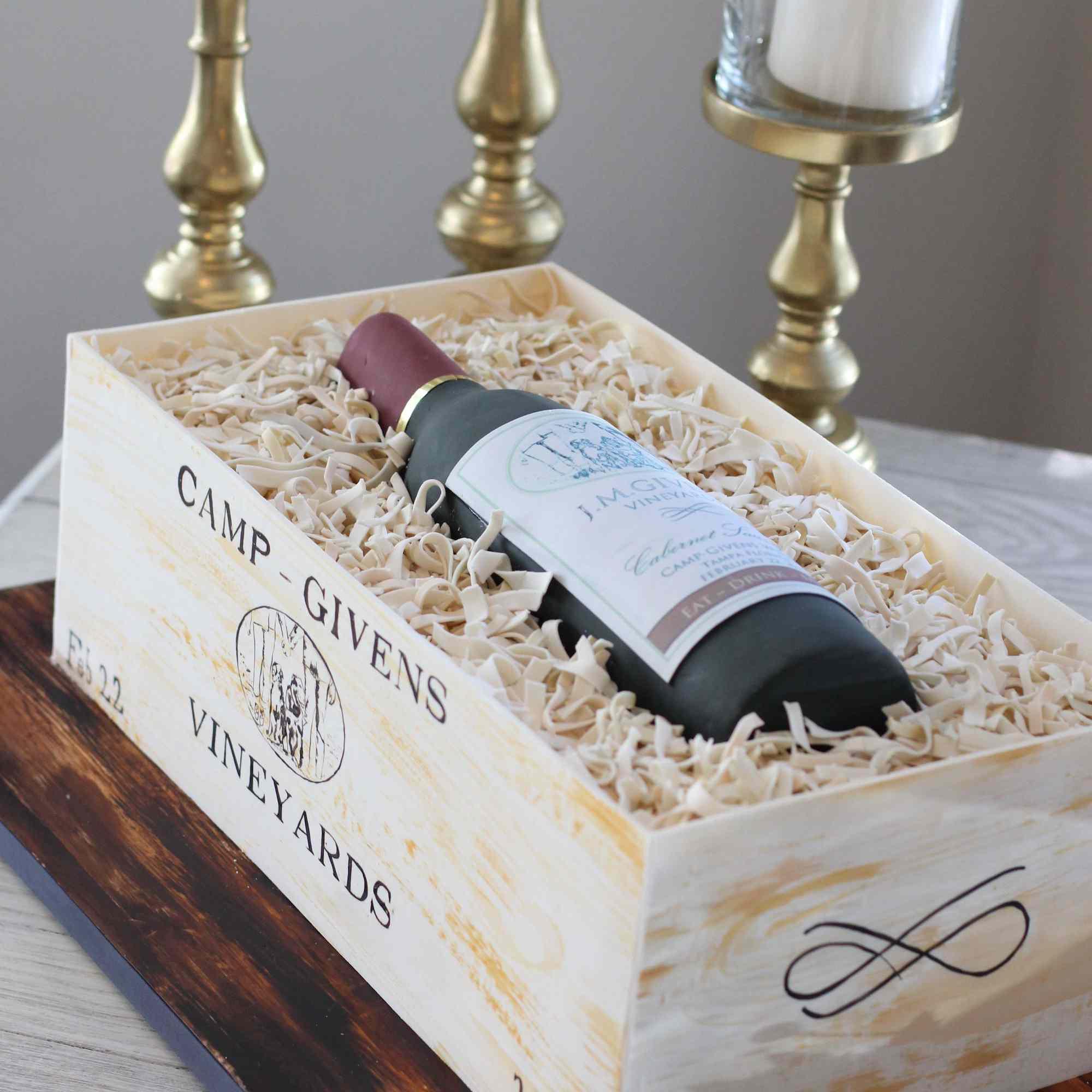 wine bottle groom's cake