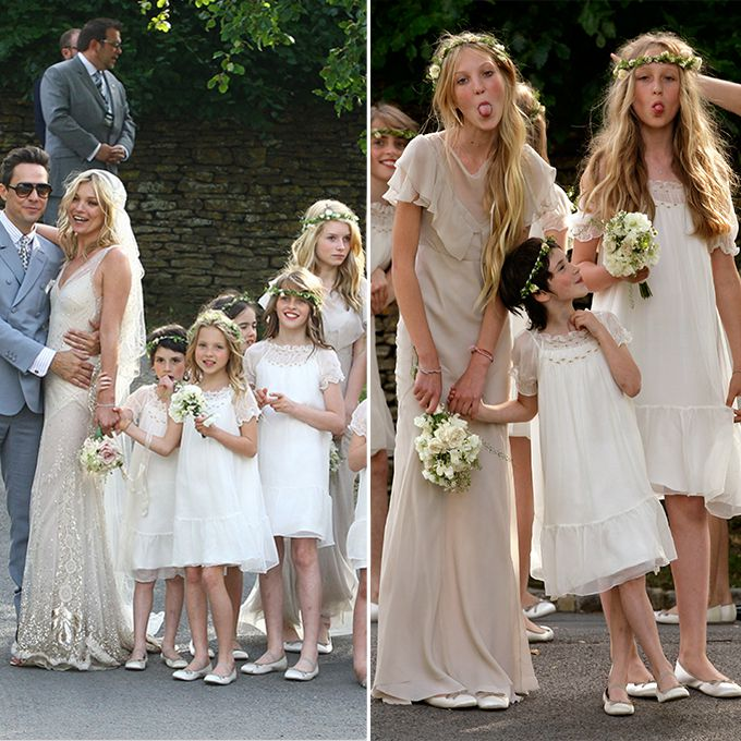 Lottie Moss as a bridesmaid