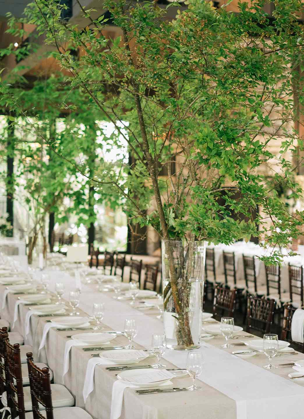 Trees at Reception Table