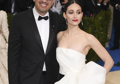 <p>Emmy Rossum and Sam Esmail Wedding</p>