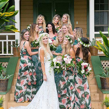 hawaiian bridal party
