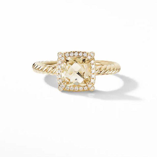 DY Chatelaine Pavé Bezel Ring