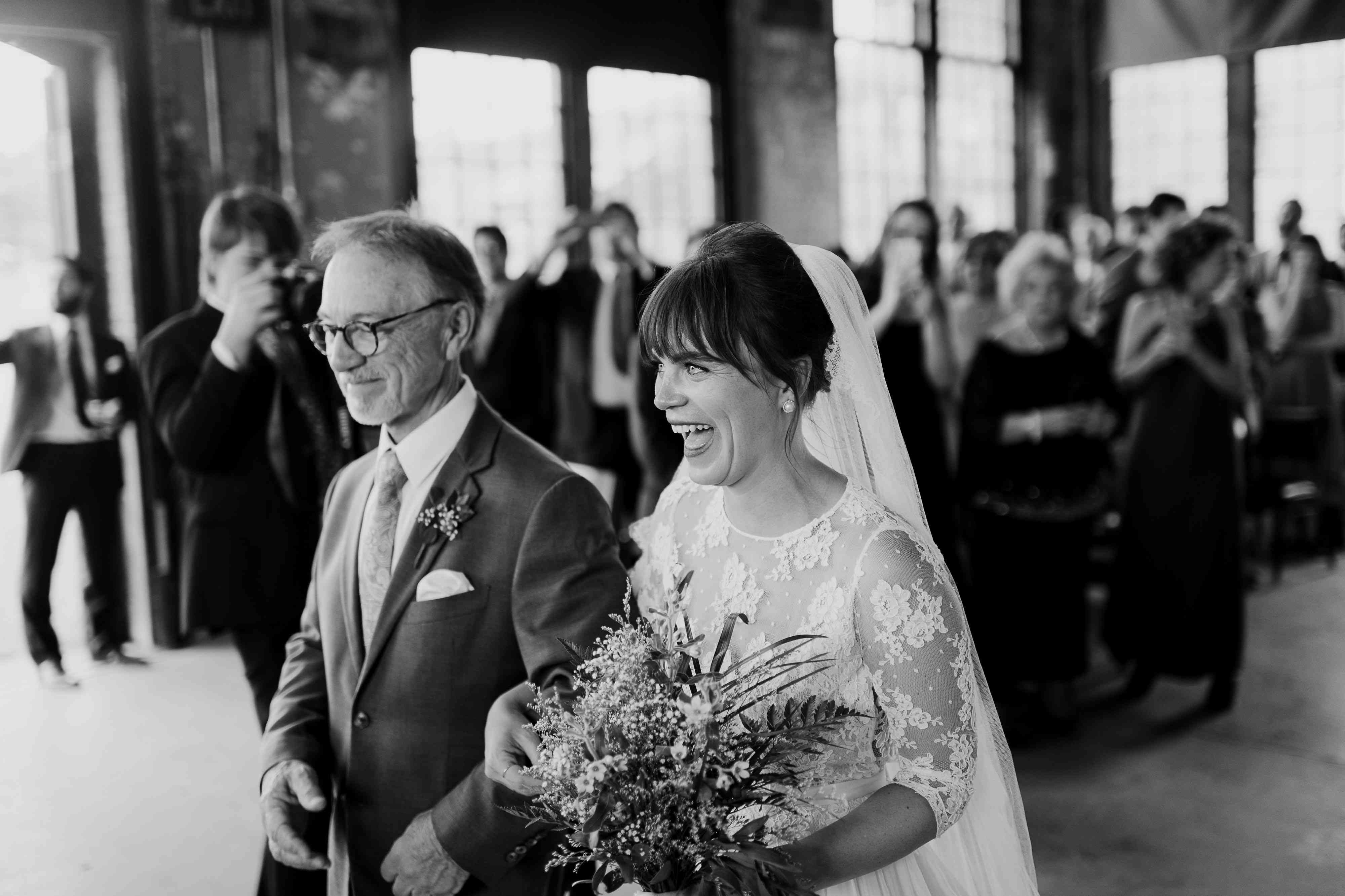 <p>bride and father of the bride</p><br><br>