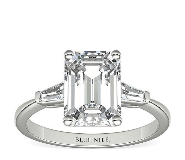 Tapered Baguette Diamond Engagement Ring
