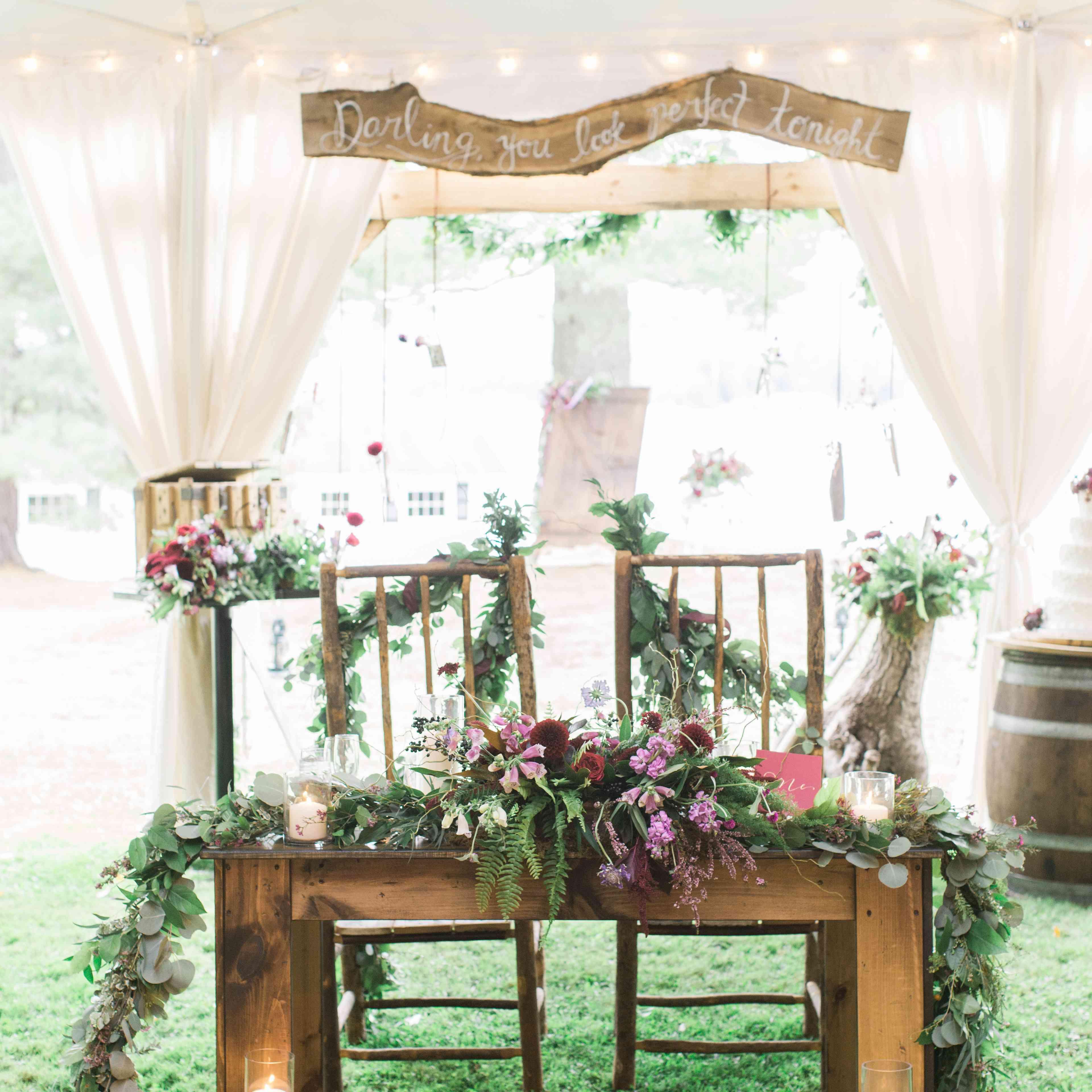 Wedding reception chairs