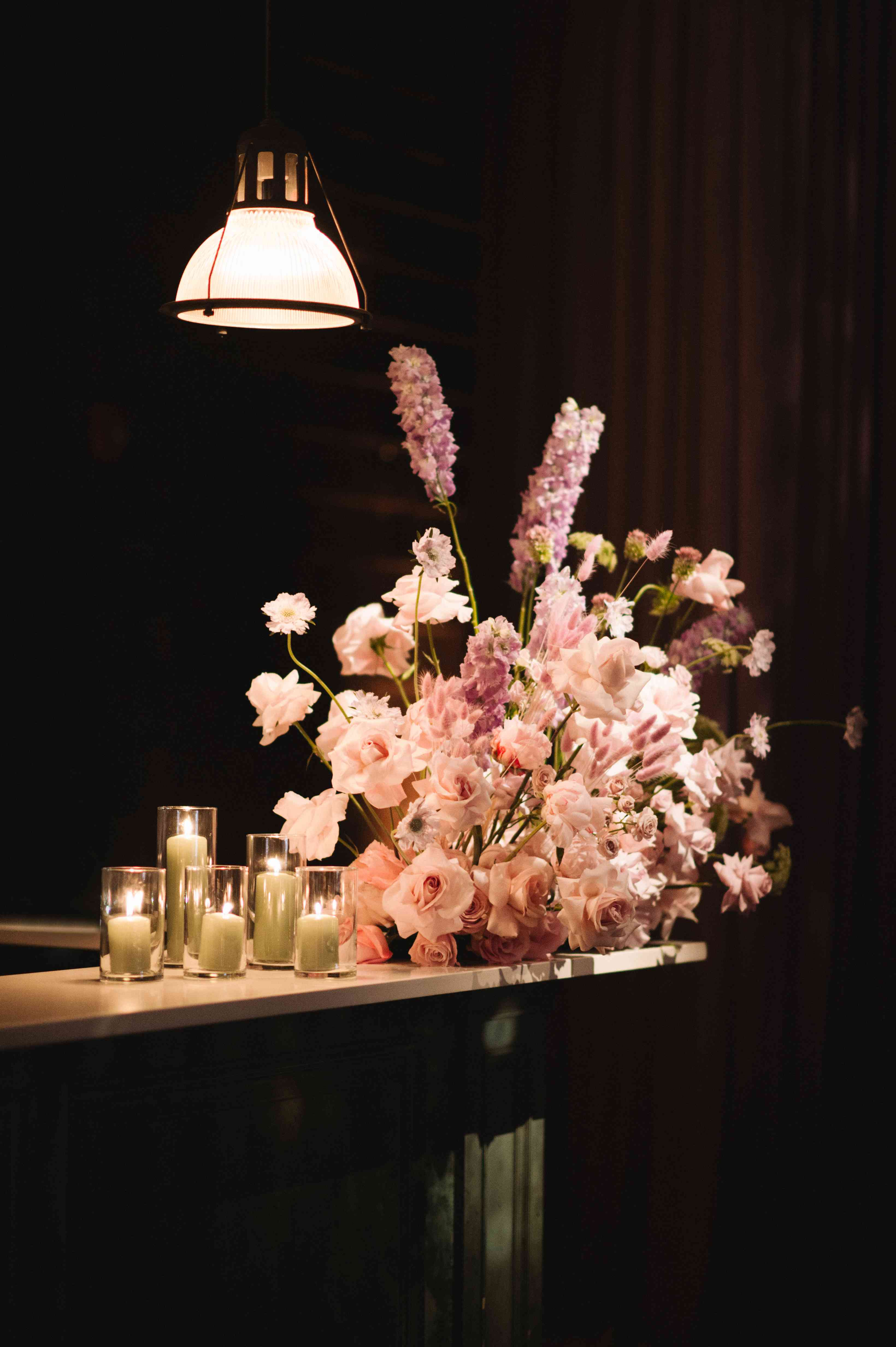pink bar arrangement