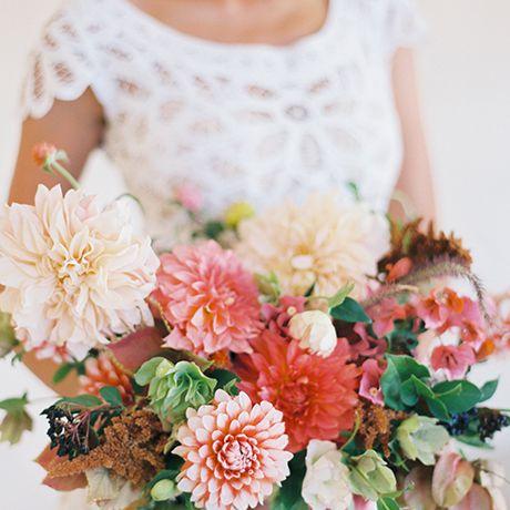 A coral bouquet