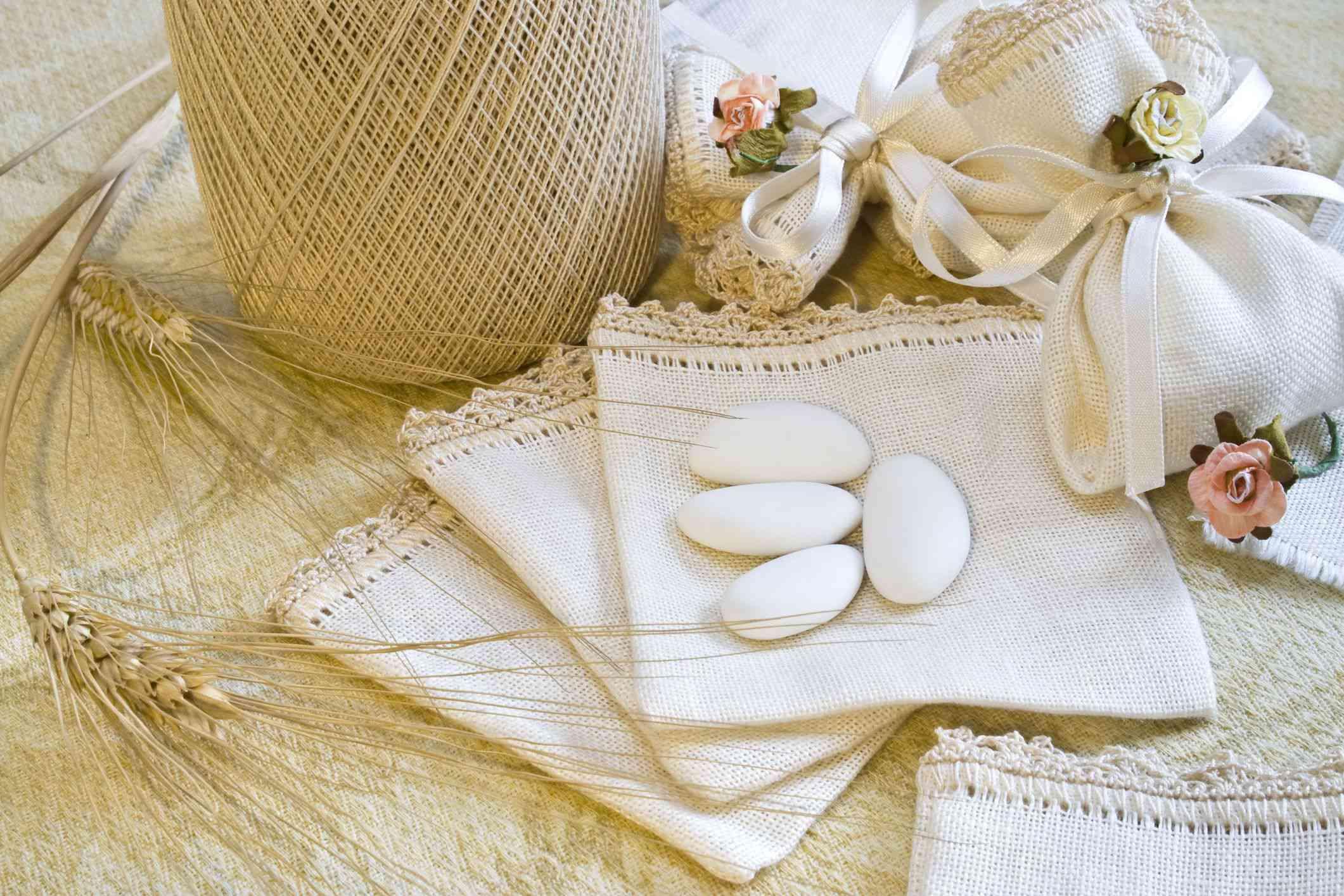 Sugared almond wedding favors