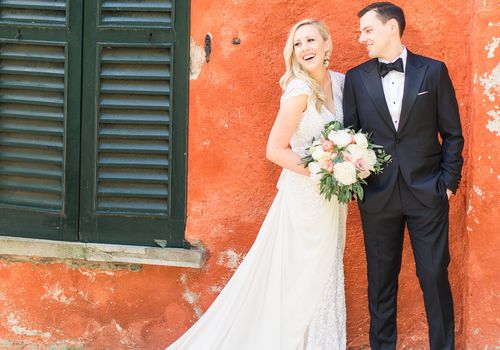 <p>Newlyweds in Italy</p>
