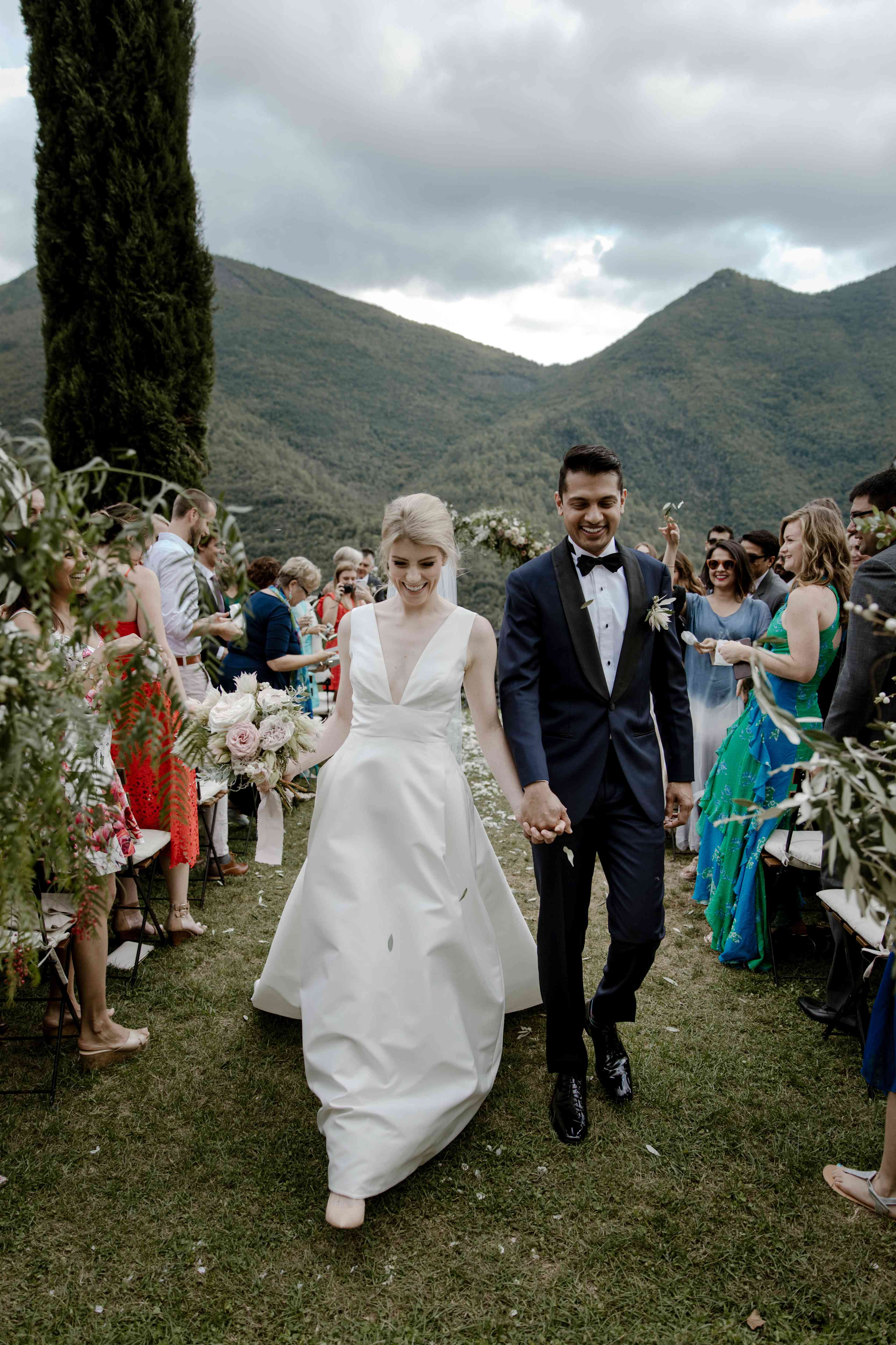newlyweds in Italy