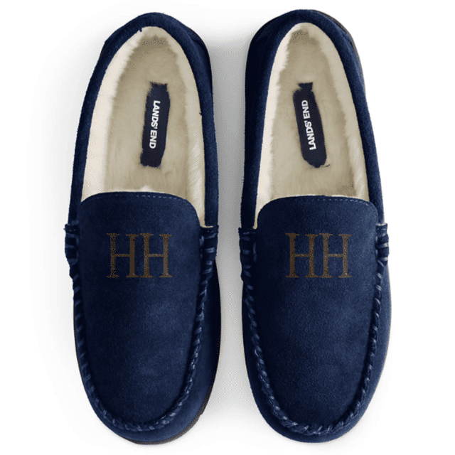 Lands End Suede Leather Moccasin Slippers for Him & Her