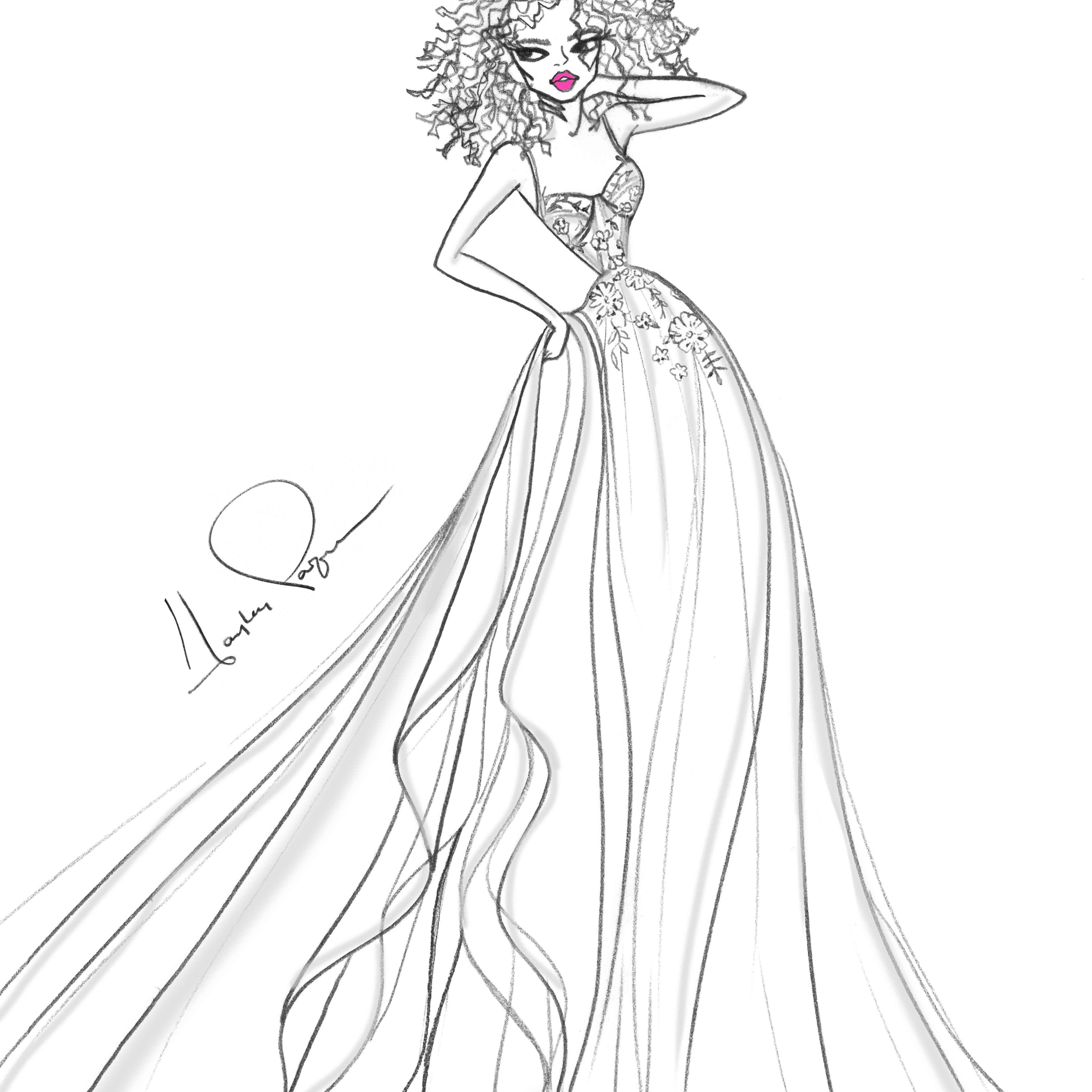 Blush by Hayley Paige Bridal Fashion Week Fall 2020 Sketch