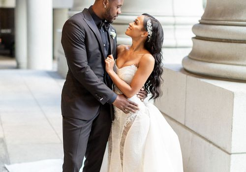 Tori Braga and Darrius Heyward-Bey were married at the Bently Reserve in San Francisco.