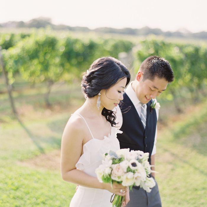 A couple at a vineyard