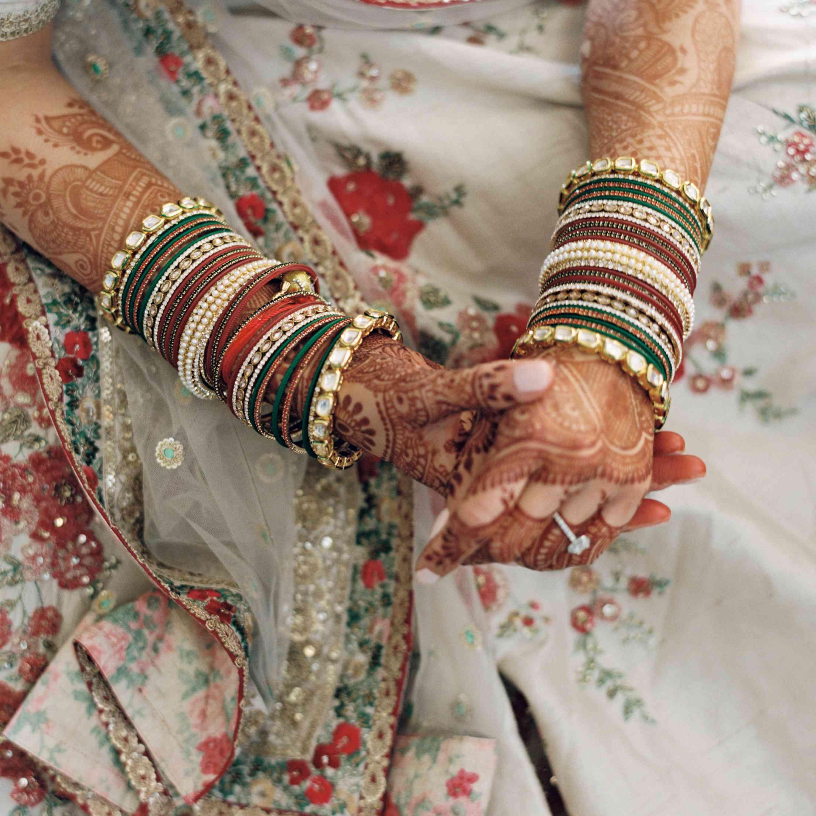 bride's henna hands