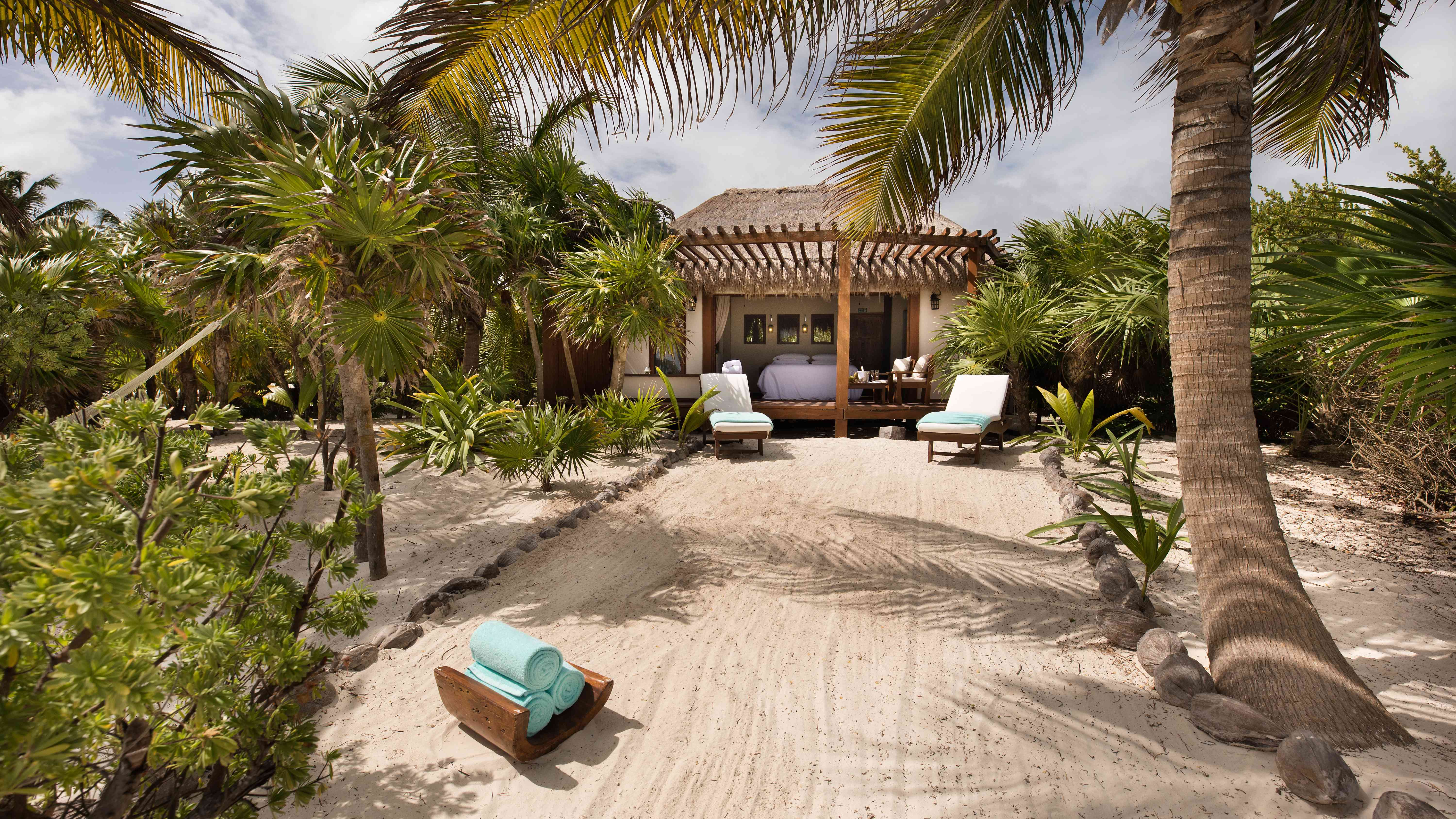 Bungalow on a beach