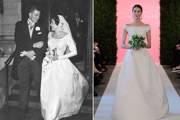 1950s Wedding dress made modern