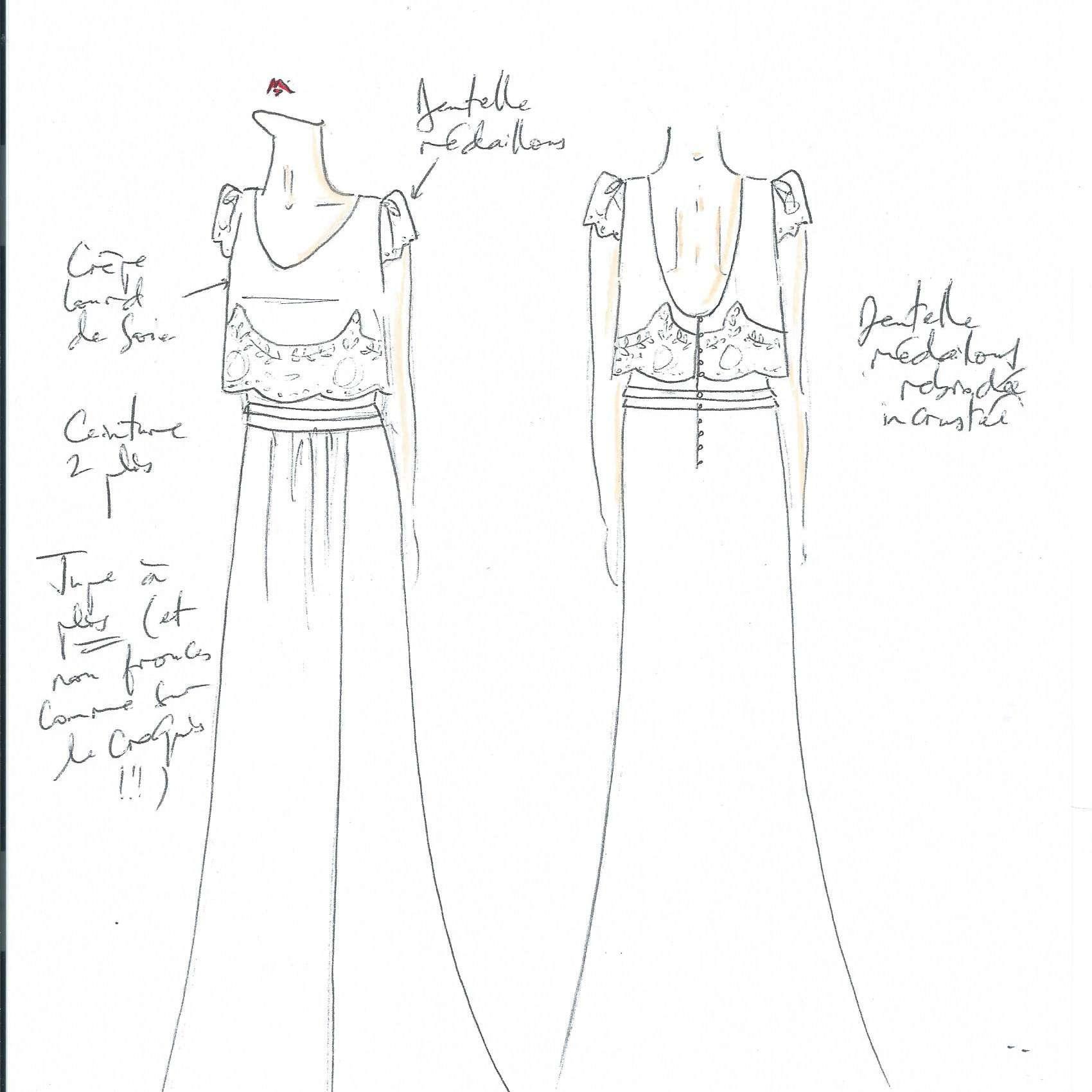 Laure De Sagazan Bridal Fashion Week Fall 2020 Sketch