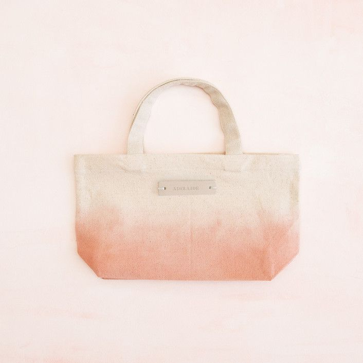 Dip-Dyed Canvas Tote