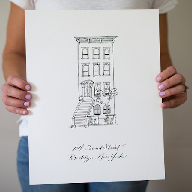 Custom Calligraphy House Portrait