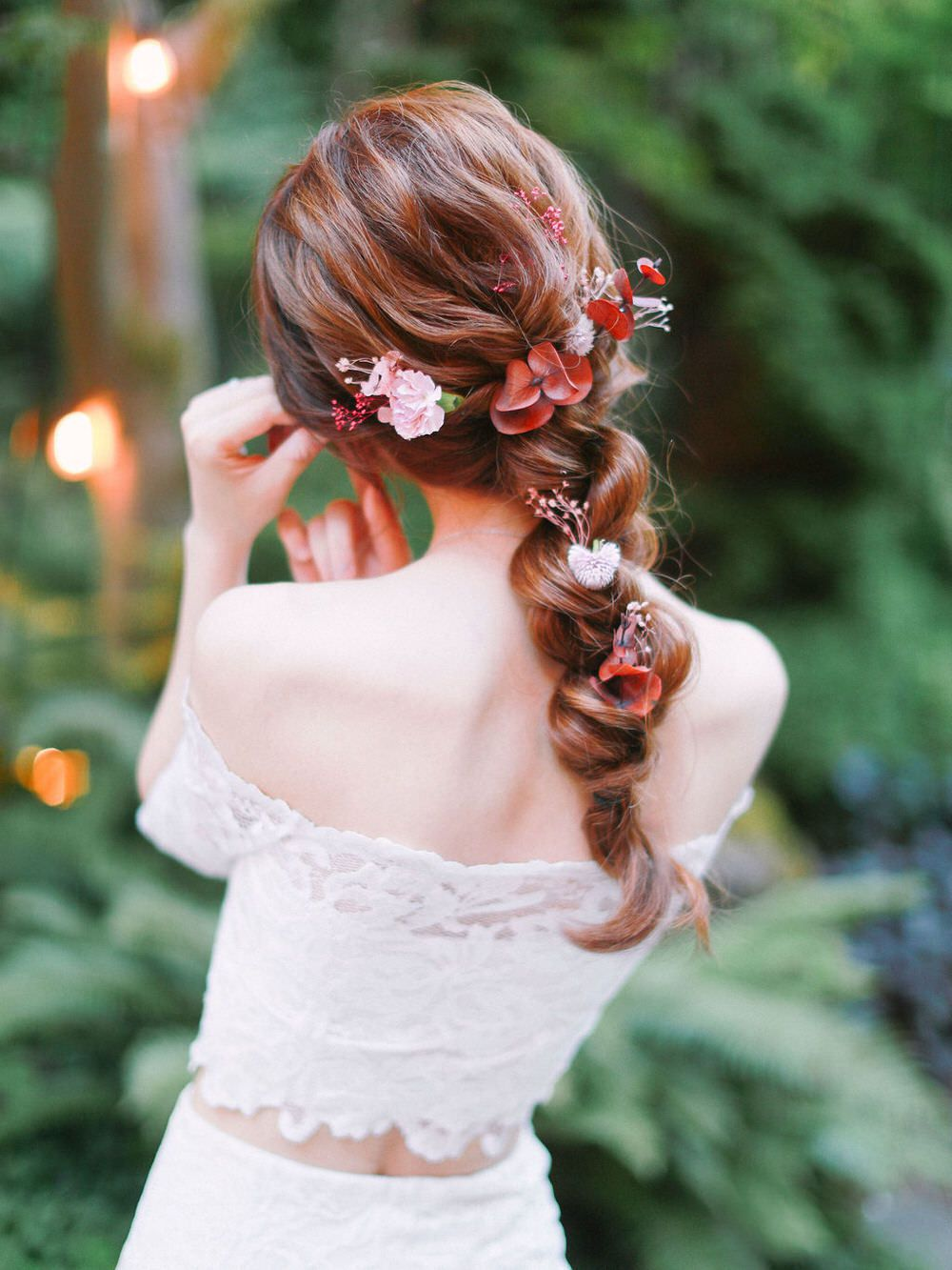 Floral-Studded Rope Braid