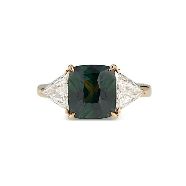 Kendra Pariseault Green Sapphire and Diamond Ring