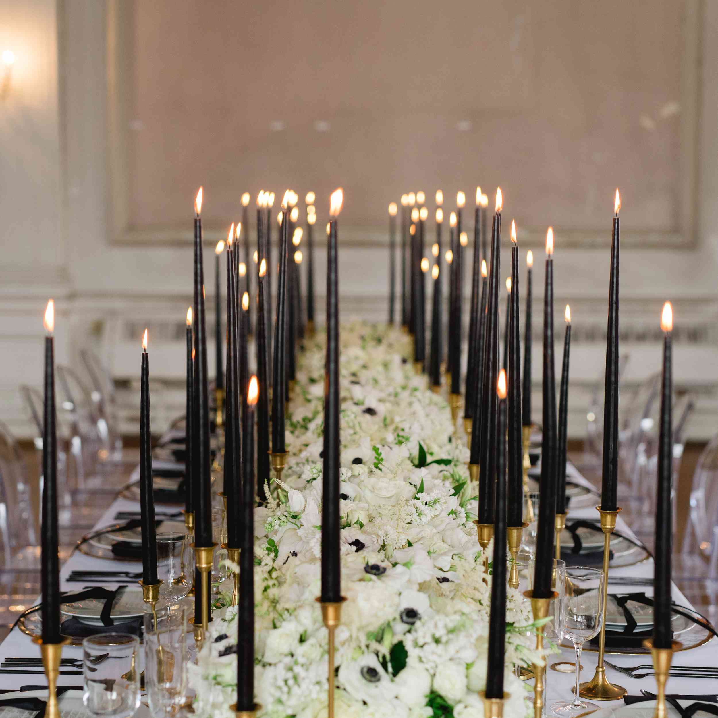 tall black candles