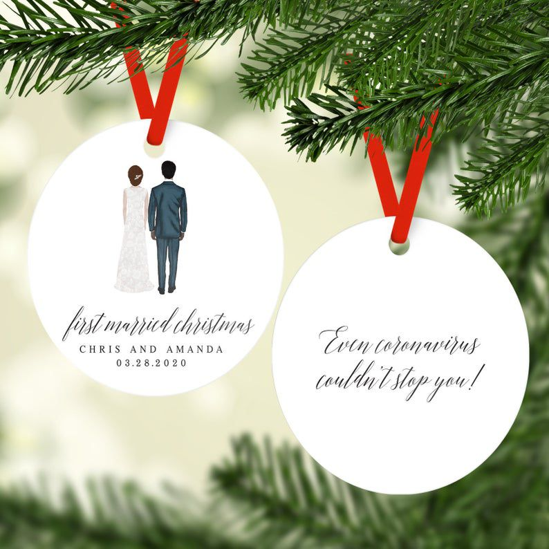 Rubi and Lib First Married Christmas Ornament