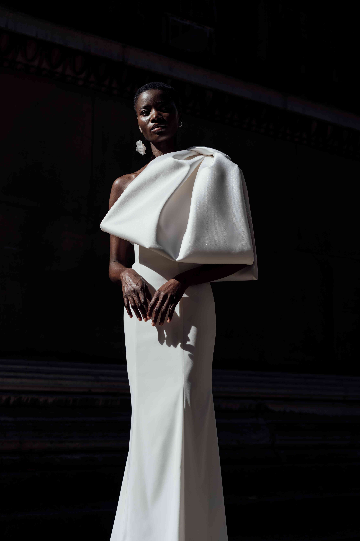 Hyacinth Dress with Dahlia Bow