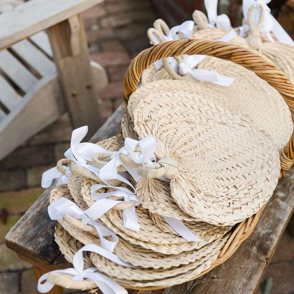 timeless southern wedding, decorative fans