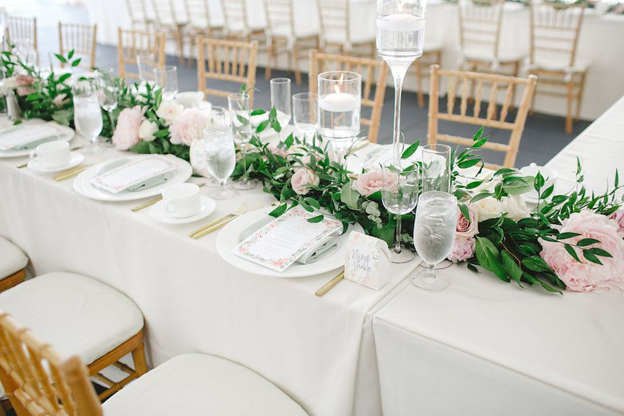 Pink and Green Table Garland
