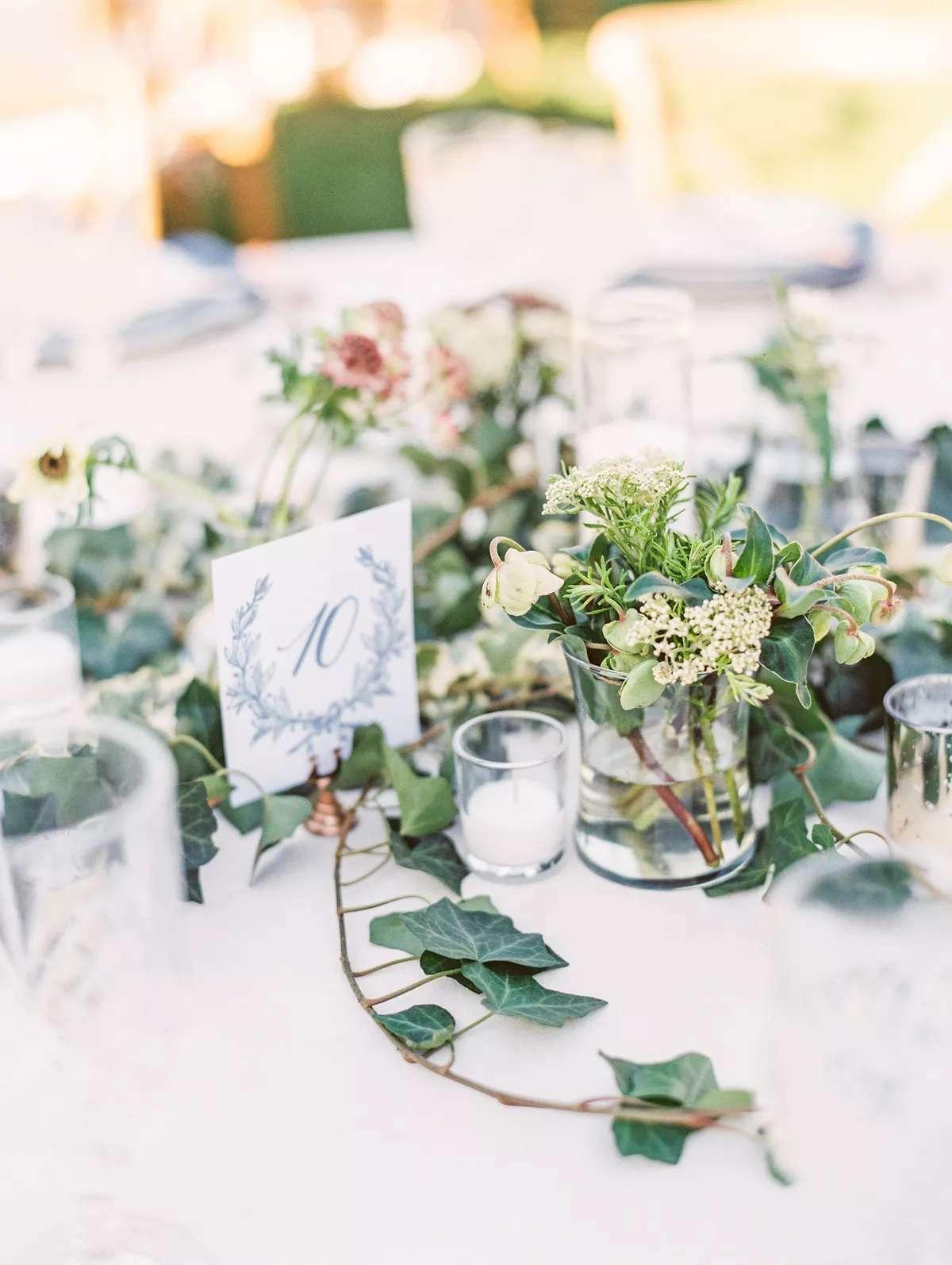 organic flower centerpieces