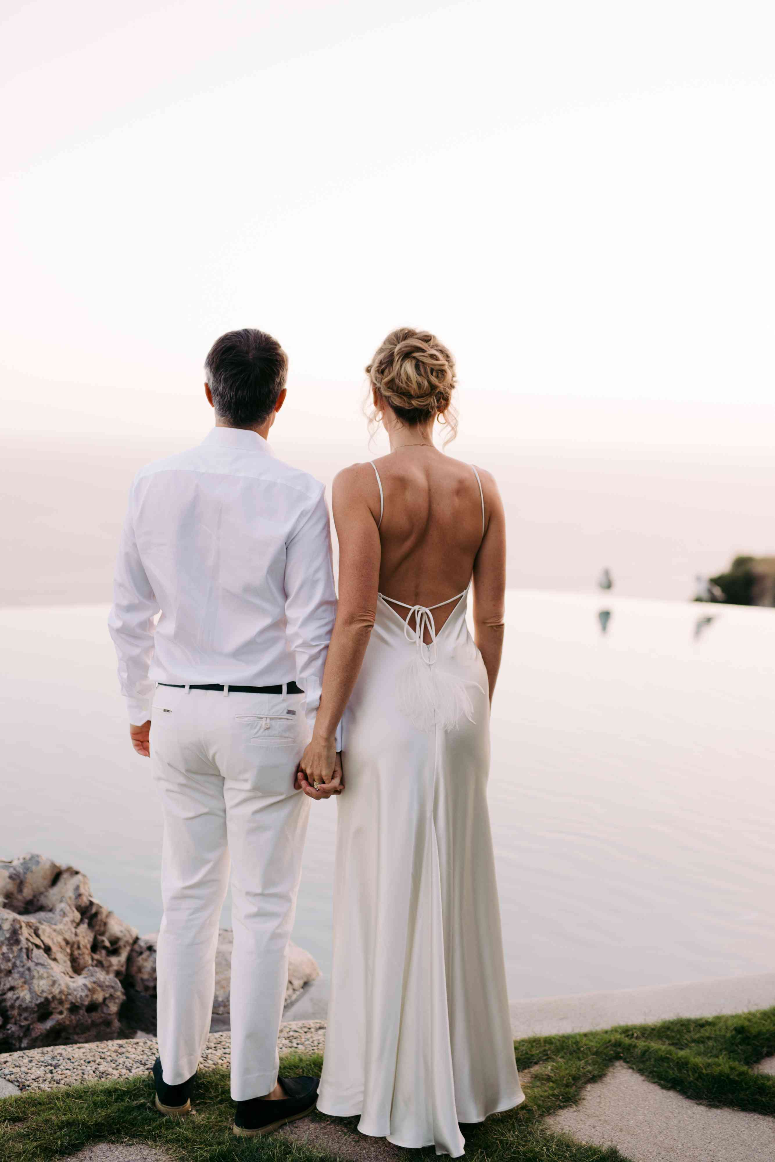 Couple looking at the water
