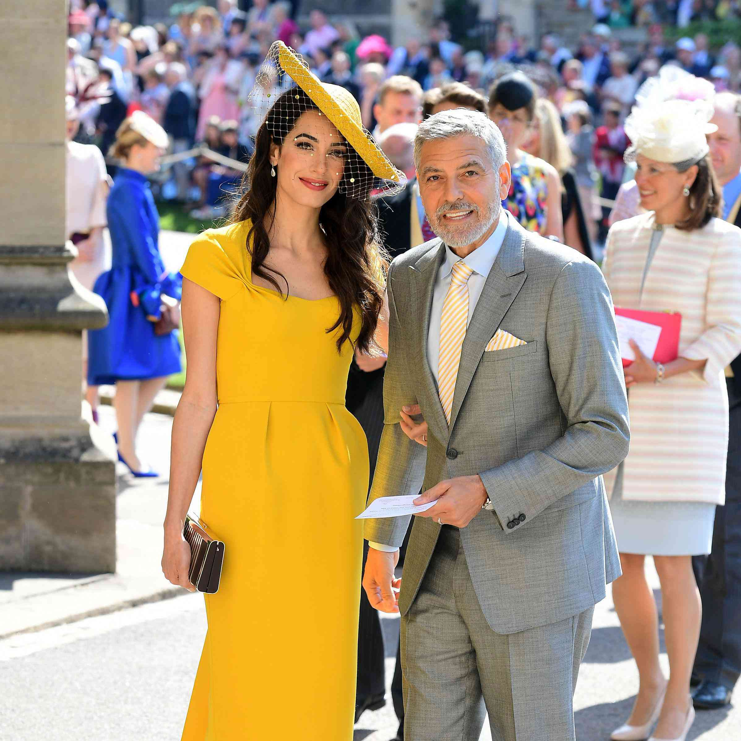 Amal Clooney Royal Wedding.You Can Finally Buy Amal Clooney S Unforgettable Yellow Dress From