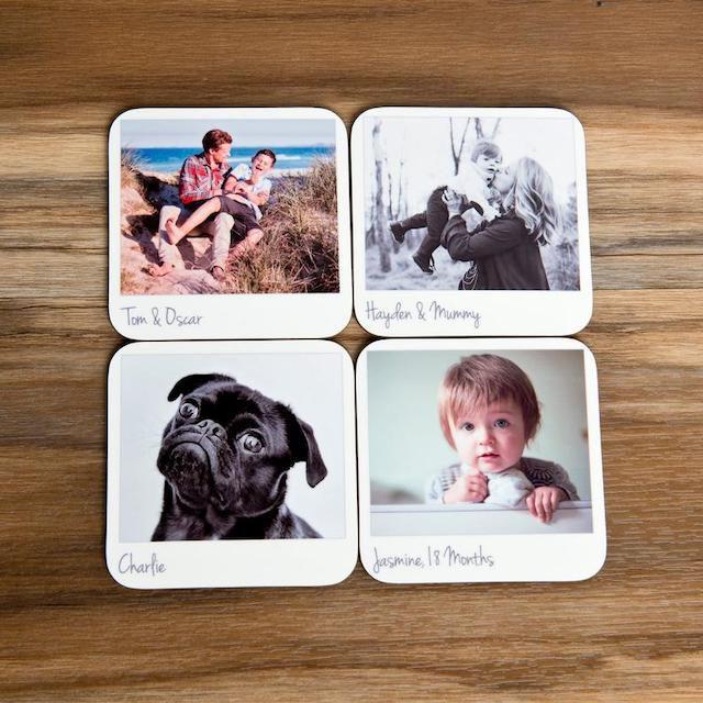 Etsy Personalized Retro Style Photo Coasters
