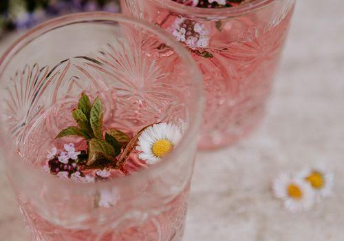 edible flower cocktails