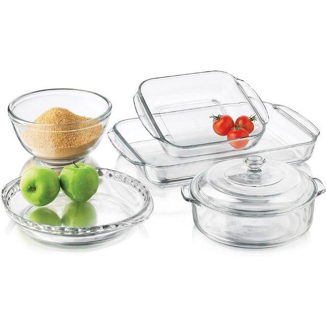 Libbey Baker's Basics 6-Piece Glass Baking And Roasting Dish