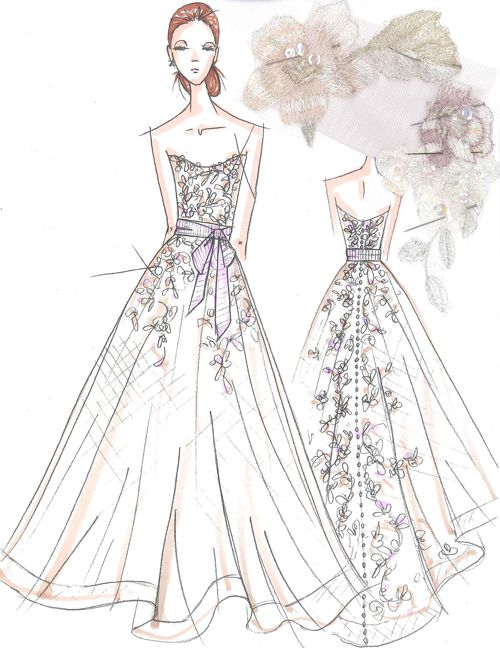 Exclusive Spring 2015 Wedding Dress Sketches From Our Favorite Bridal Designers