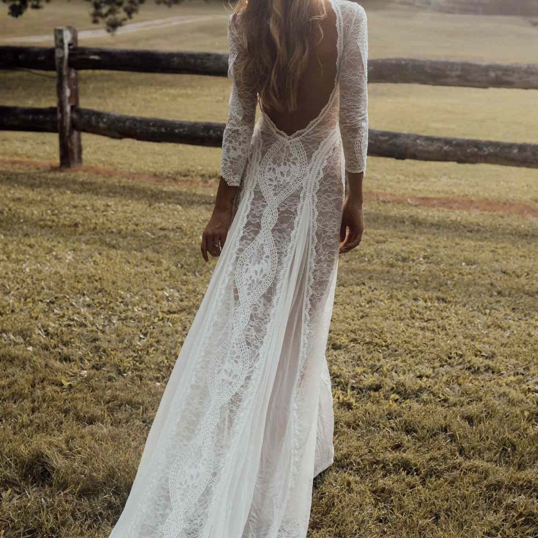 Grace Loves Lace Inca Lace Wedding Gown $2,790