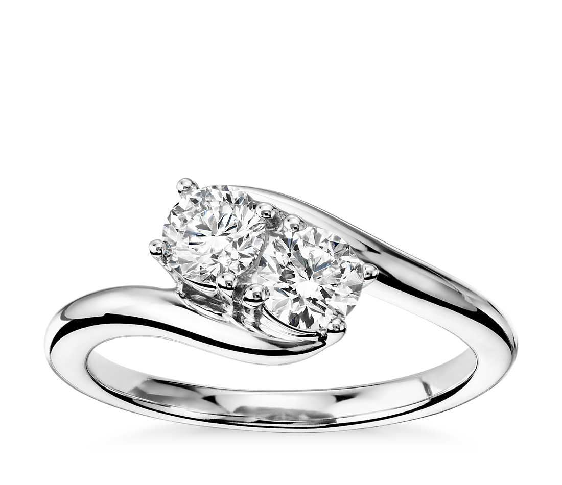 Blue Nile Two-Stone Solitaire Diamond Ring