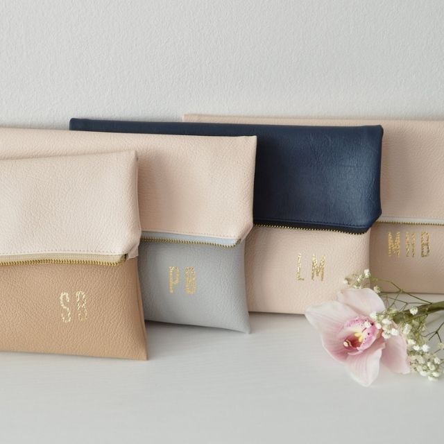 NavesDesign Set of 4 Personalized Foldover Clutches