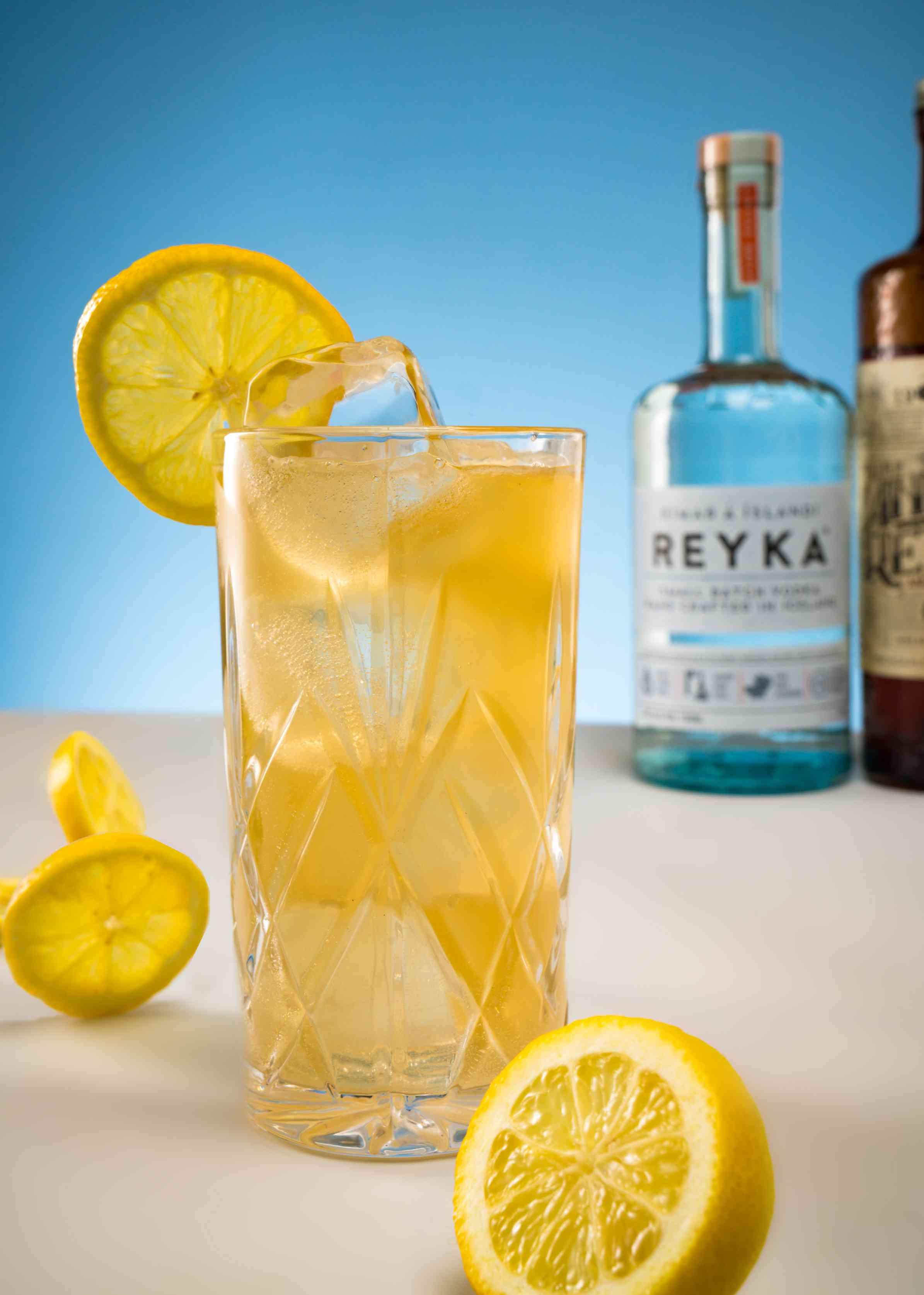 alcohol, signature cocktails, drink, glass, lemons, lemonade, vodka, tequila
