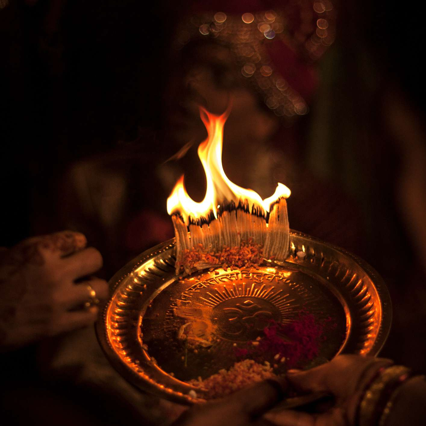 Pre-wedding puja ceremony