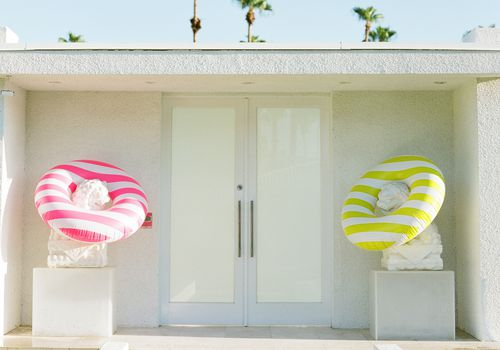 house with pool floats