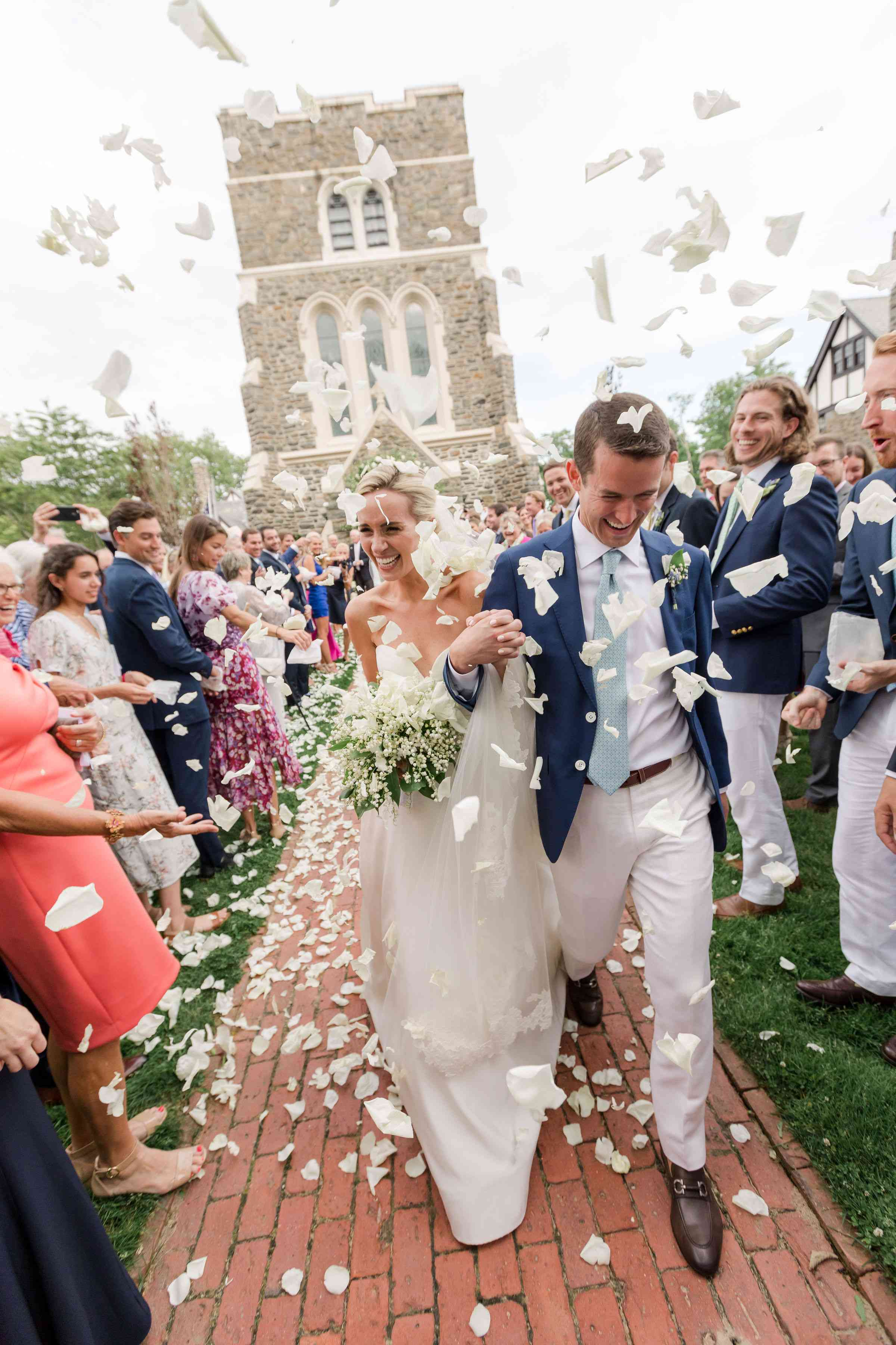 petal toss ceremony exit