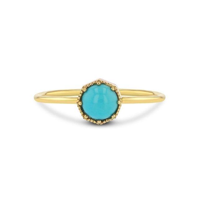 Grace Lee Crown Bezel Turquoise Ring