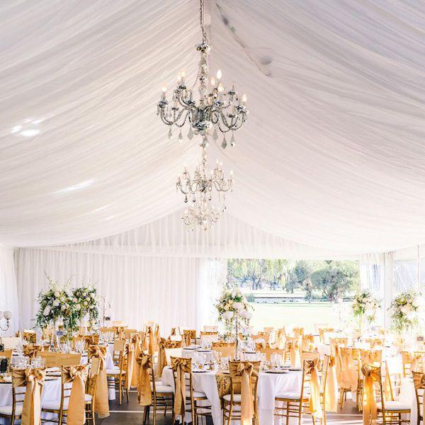 Wedding layout under tent