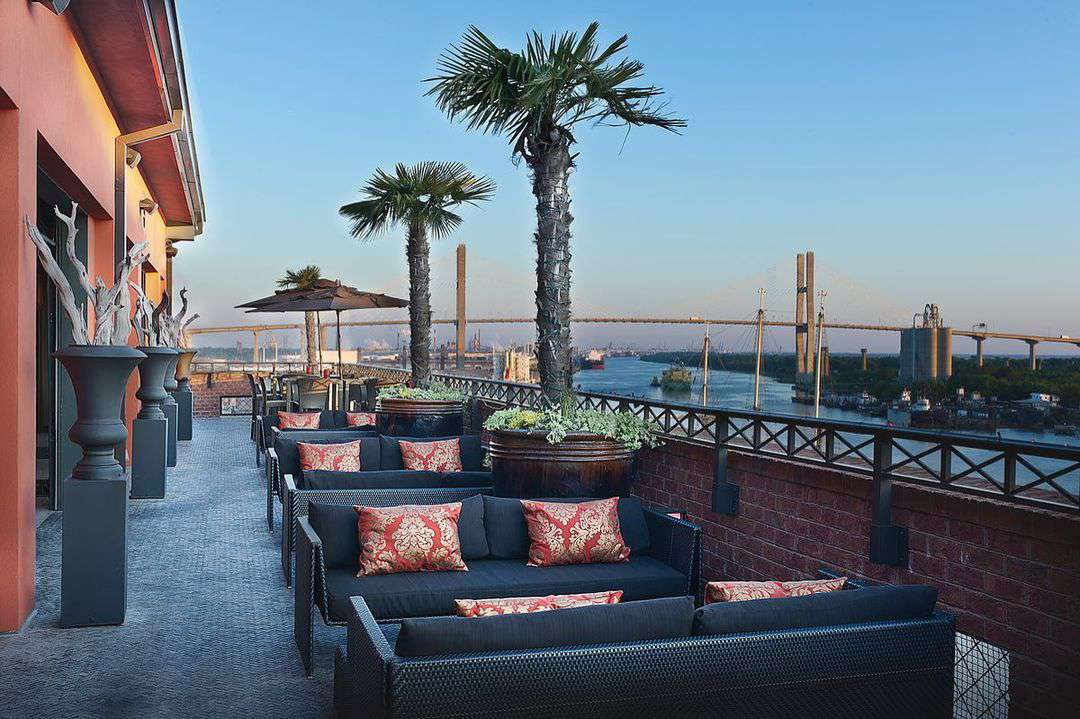 Bohemian Savannah Riverfront rooftop bar
