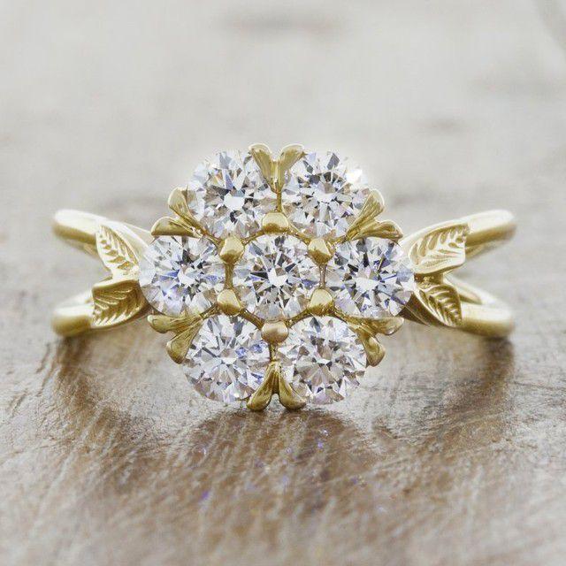 cluster ring flower shape