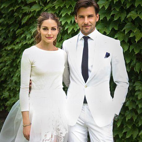 Olivia Palermo marries Johannes Huebl in Carolina Herrera, 2014